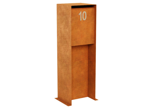 Corten Steel Letterbox 1 Corten B Cortena - cortena.pl
