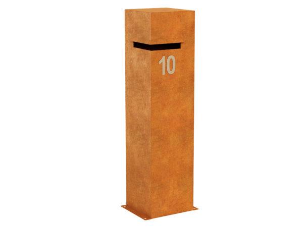 Corten Steel Letterbox 3 Corten B Cortena - cortena.pl
